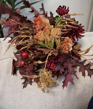 Bukett, Autumn love konstgjord handbunden-0