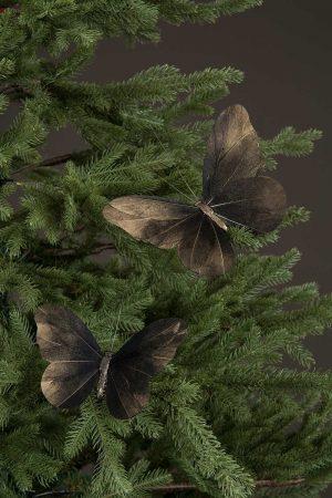 Fjäril, stor, 2 pack, skiftande från svart/brunt till guld-0