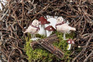 Flugsvamp, 2- pack, konstgjorda svampar-6057