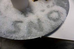 Snö, konstgjorda snöflingor-0