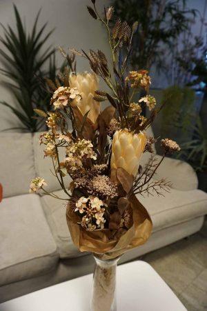 Trachelium, beige, konstgjord blomma-0