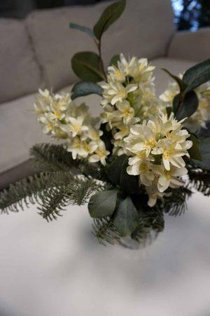 Bukett, doftfria hyacinter, konstgjord handbunden-0