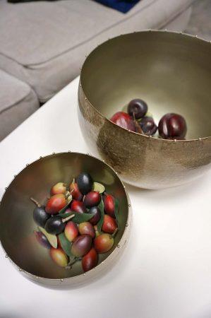 Kruka/skål i metall, antiksilver stor-0