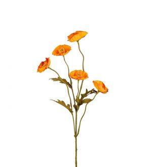 Vallmo, ockragul, konstgjord blomma -0