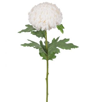 Chrysanthemum vit, konstgjord blomma-0
