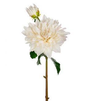 Dahlia, Real touch, vit, konstgjord blomma-0