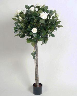 Ros träd, creme, vit, konstgjort 110cm-0