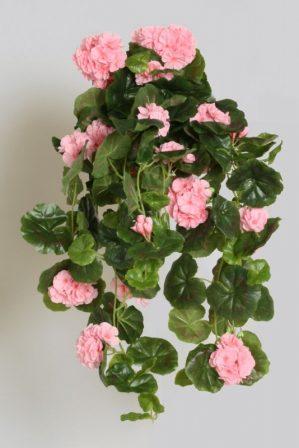 Hängpelargon, rosa, konstgjord hängväxt-0