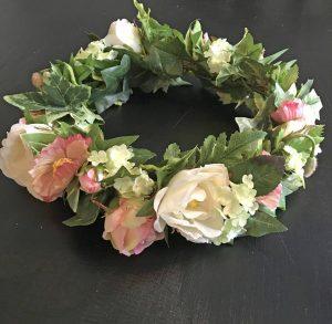 Hårkrans, 25cm, midsommarkrans secret rosegarden , konstgjord-0