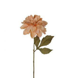 Dahlia, beige, konstgjord blomma-0